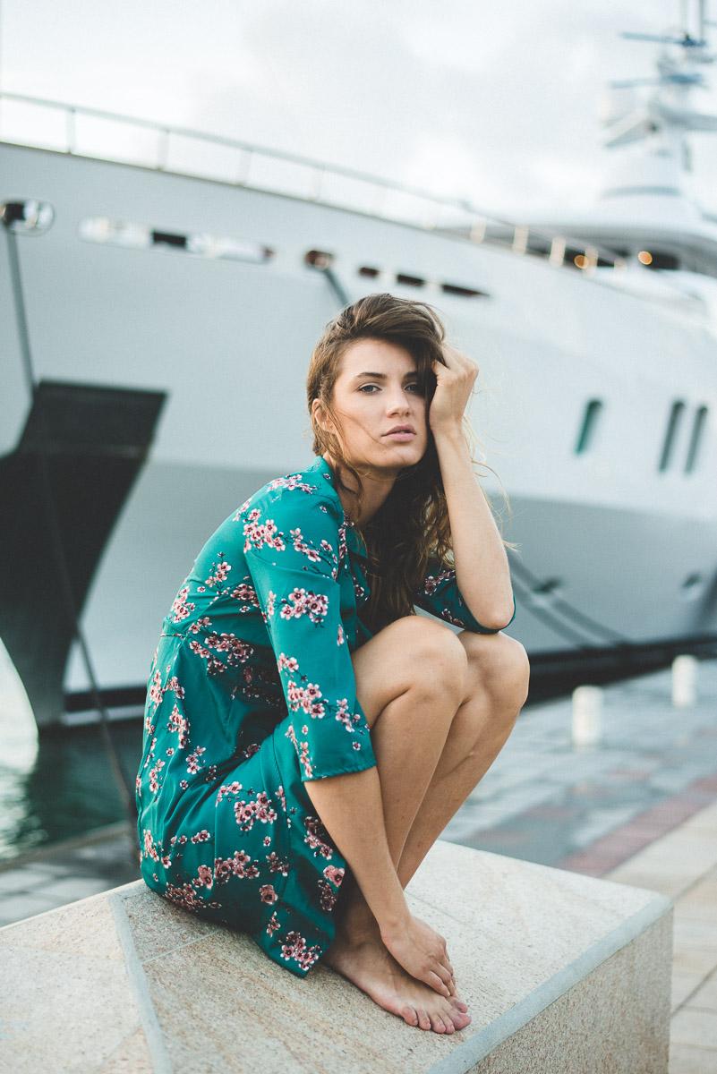Photos de mode avec Esther Gruner à Saint Barth