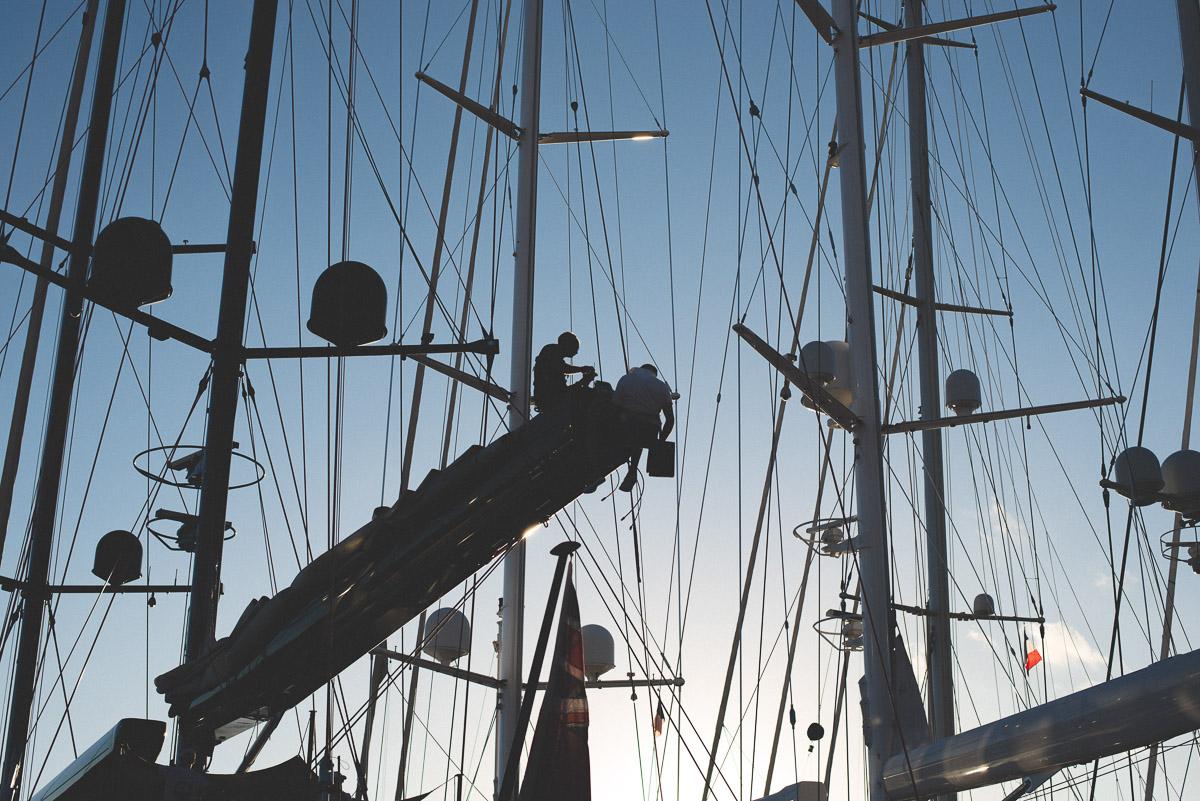 Photographie d'un voilier pendant la bucket regatta 2016